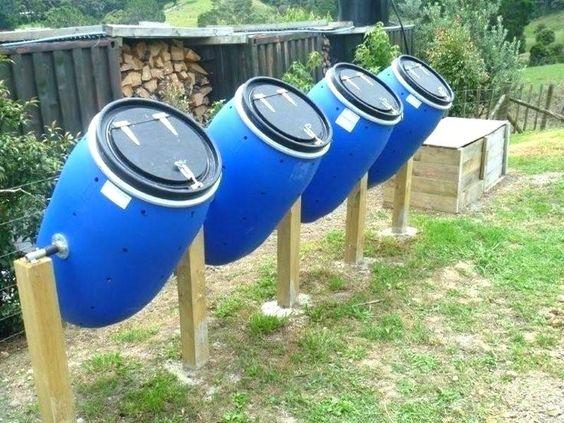 compostador casero de barril
